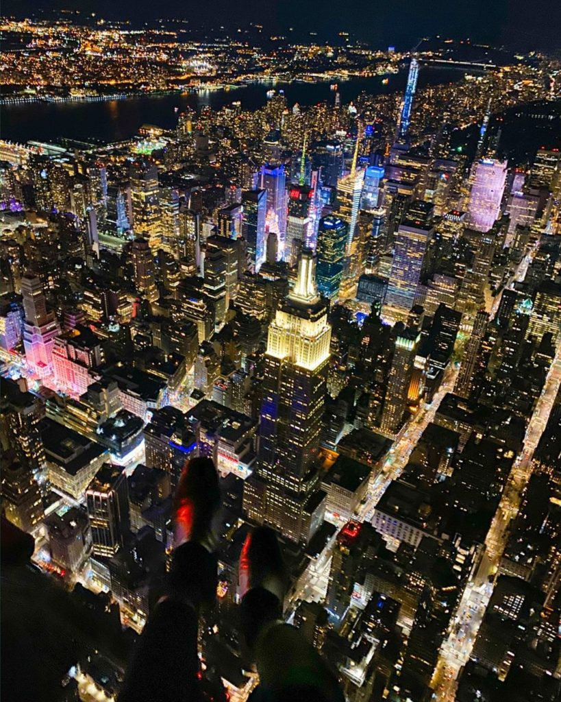 New York City view from open door helicopter ドアなしヘリコプター! スリル満点で絶景堪能しました #newy...
